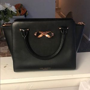 Ted Baker 'Loop Bow' Leather tote bag